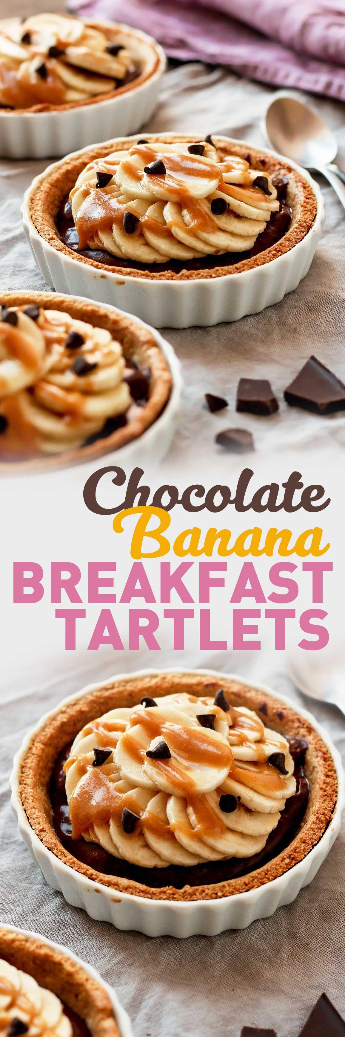 Chocolate Banana Breakfast Tartlets