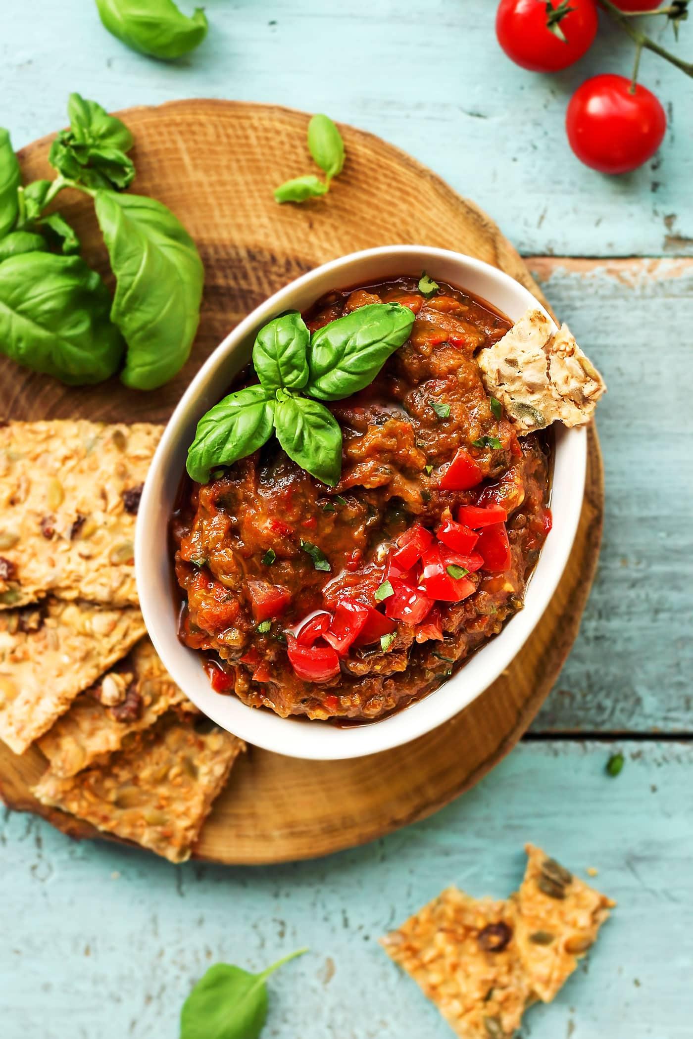 Spicy Greek Eggplant Dip