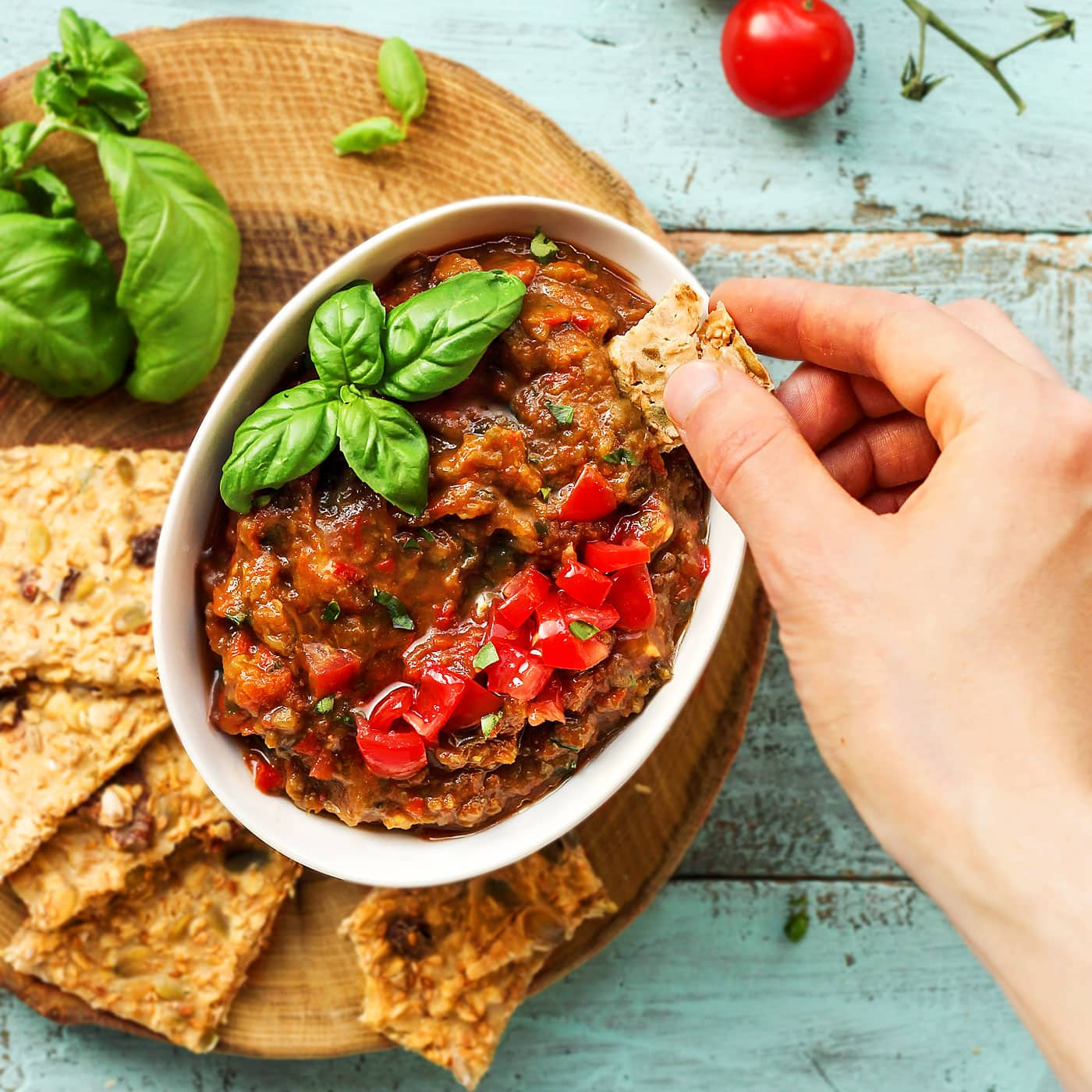 Spicy greek eggplant dip full of plants forumfinder Image collections
