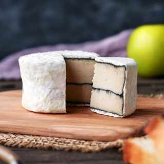 Vegan Ash-Ripened Camembert