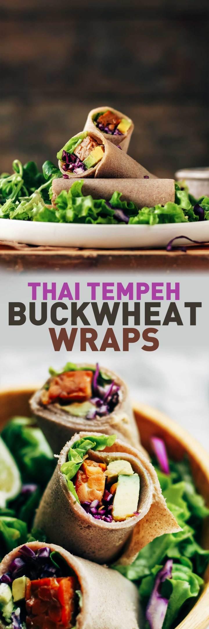 Thai Tempeh Buckwheat Wraps