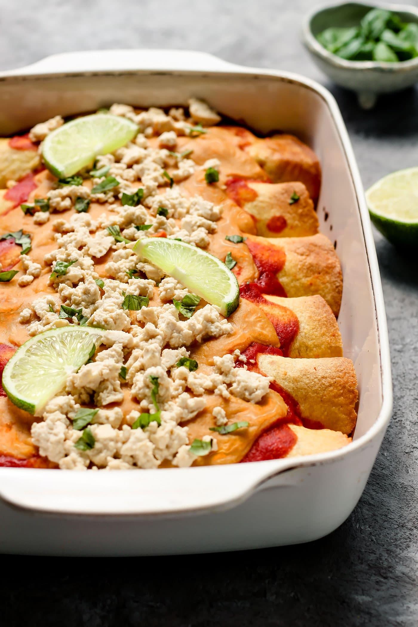 Sweet and Sour Cauliflower Enchiladas