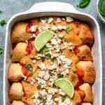 Sweet and Sour Cauliflower Enchiladas