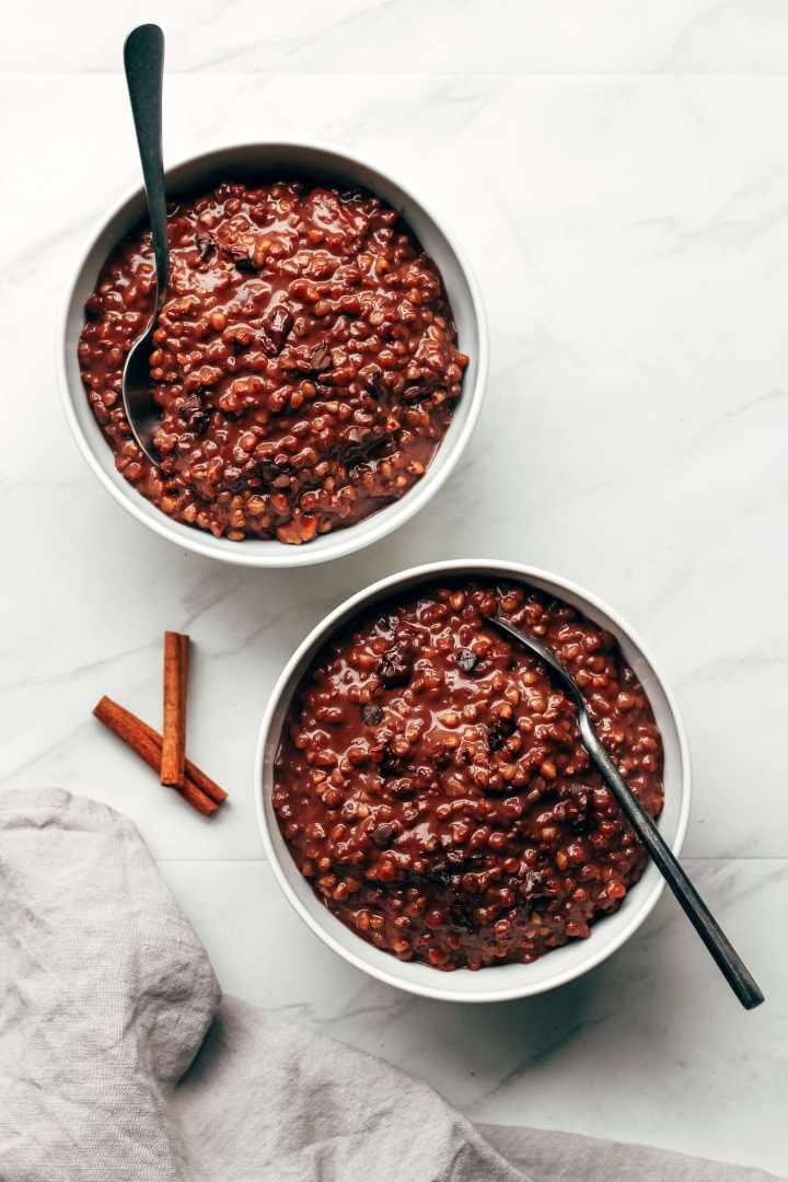 Mexican Chocolate Buckwheat Porridge