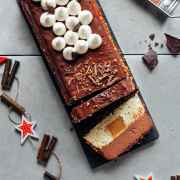 Chocolate, Caramel & Vanilla Yule Log