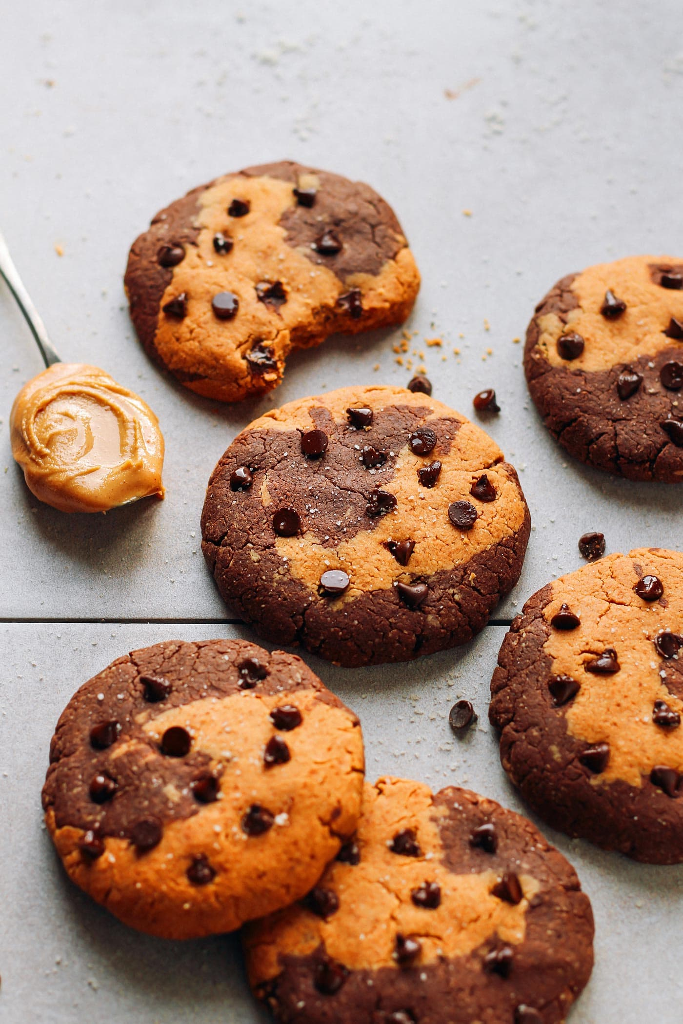 Peanut Butter Swirl Protein Cookies