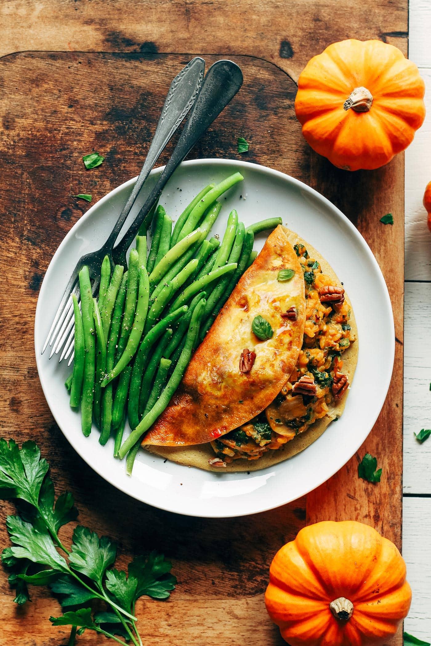 Maple Glazed Pumpkin Omelet (Vegan)