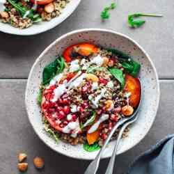 Roasted Persimmon & Quinoa Salad