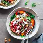 Roasted Persimmon & Quinoa Salad