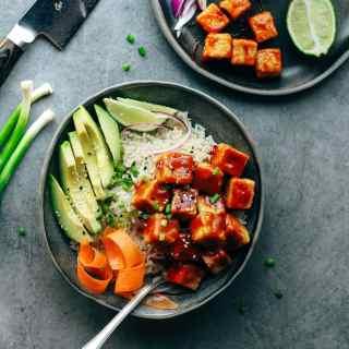Chili Crispy Tofu Bowls
