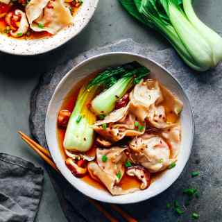 Hot & Sour Jackfruit Wonton Soup