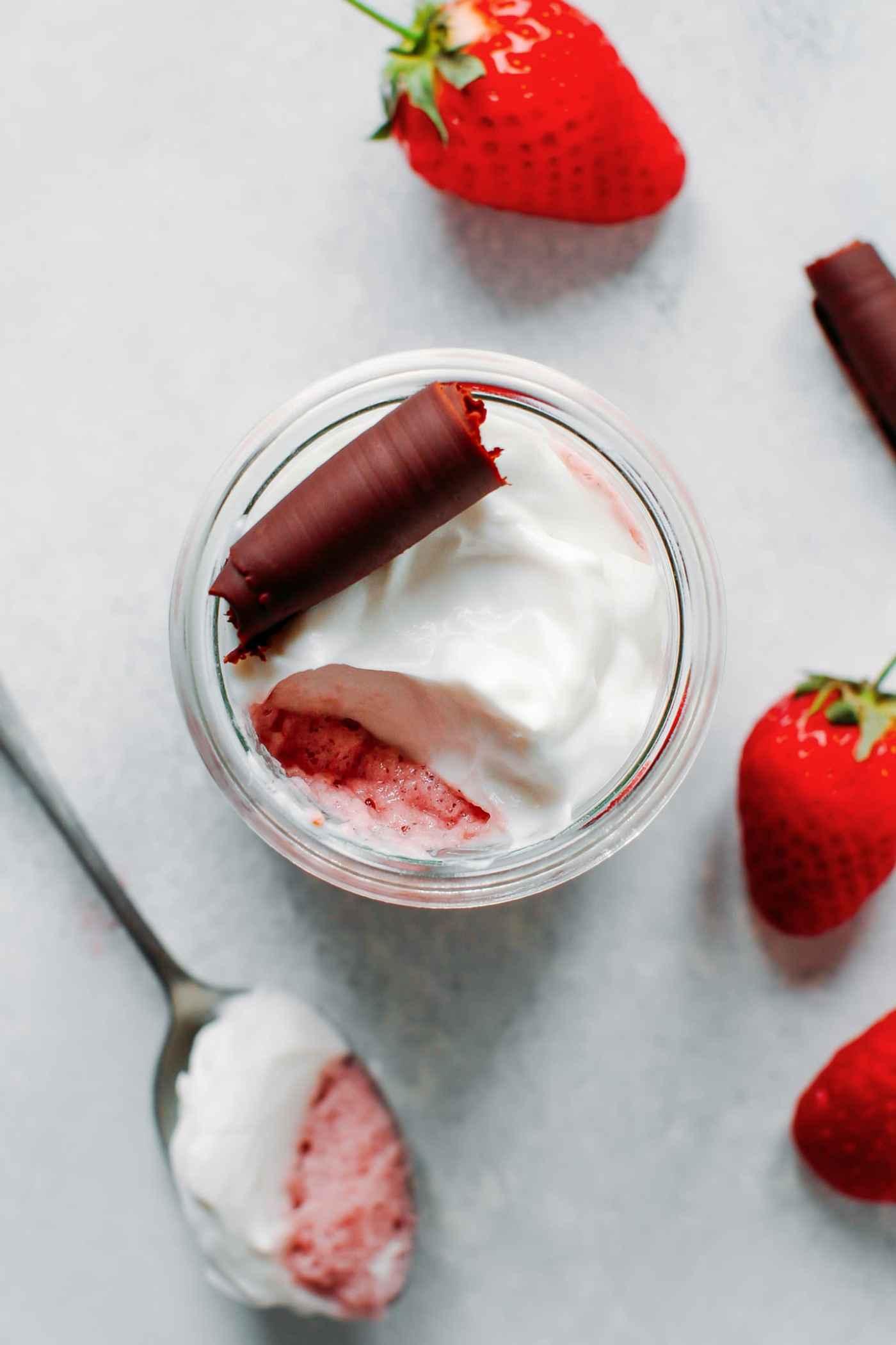 Aquafaba Strawberry Mousse