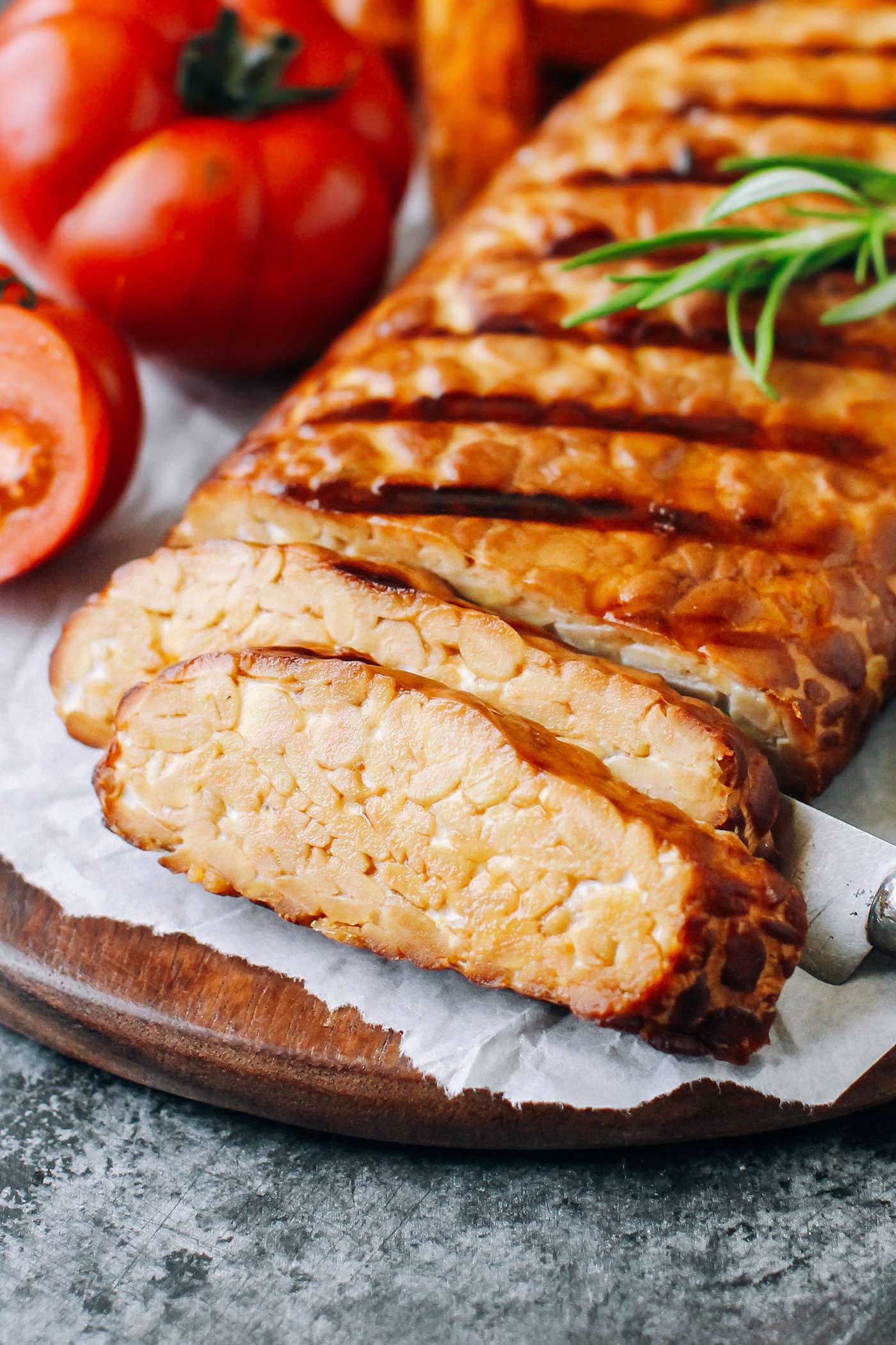 Smoked & Grilled Tempeh (Tempeh Bacon!)