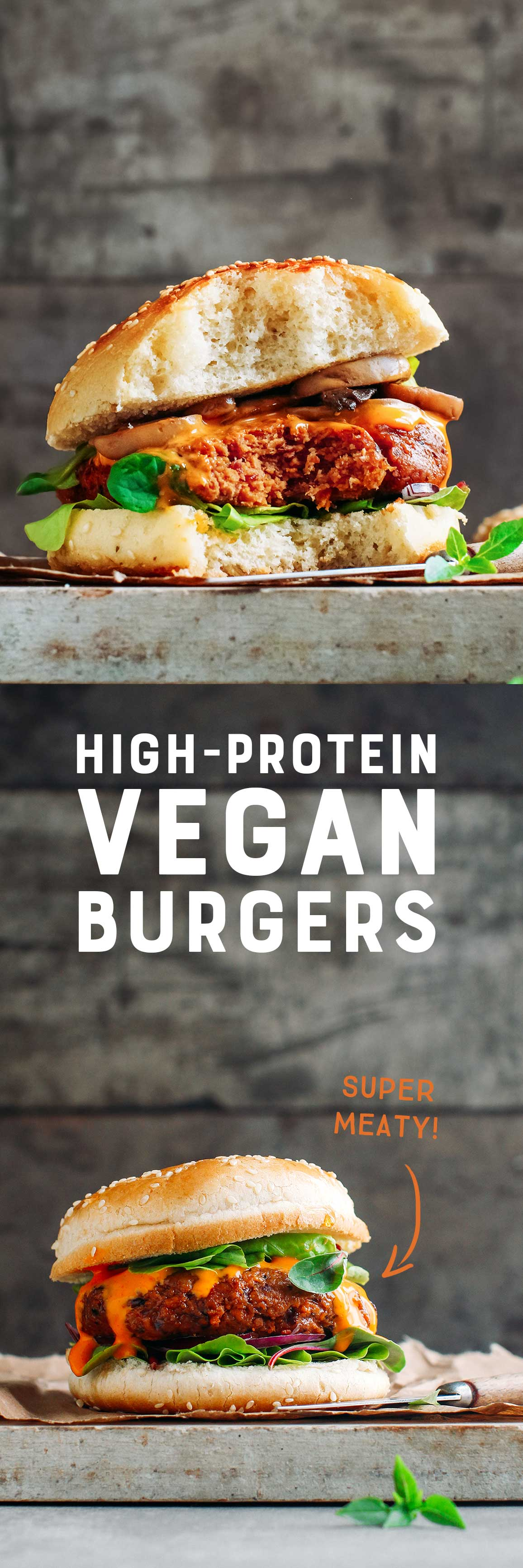 High-Protein Vegan Burgers