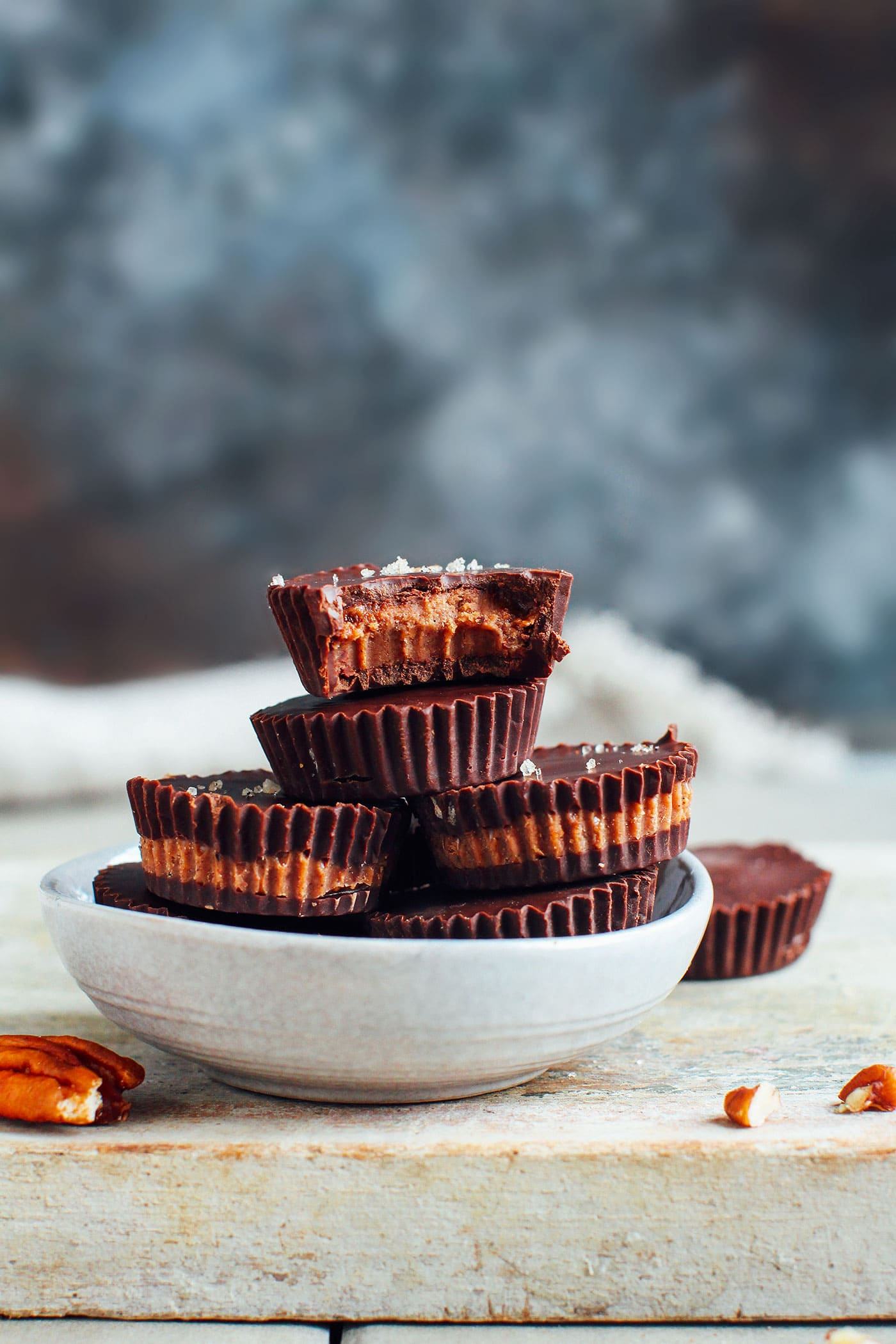 Pecan Chocolate Praline Cups (Vegan)