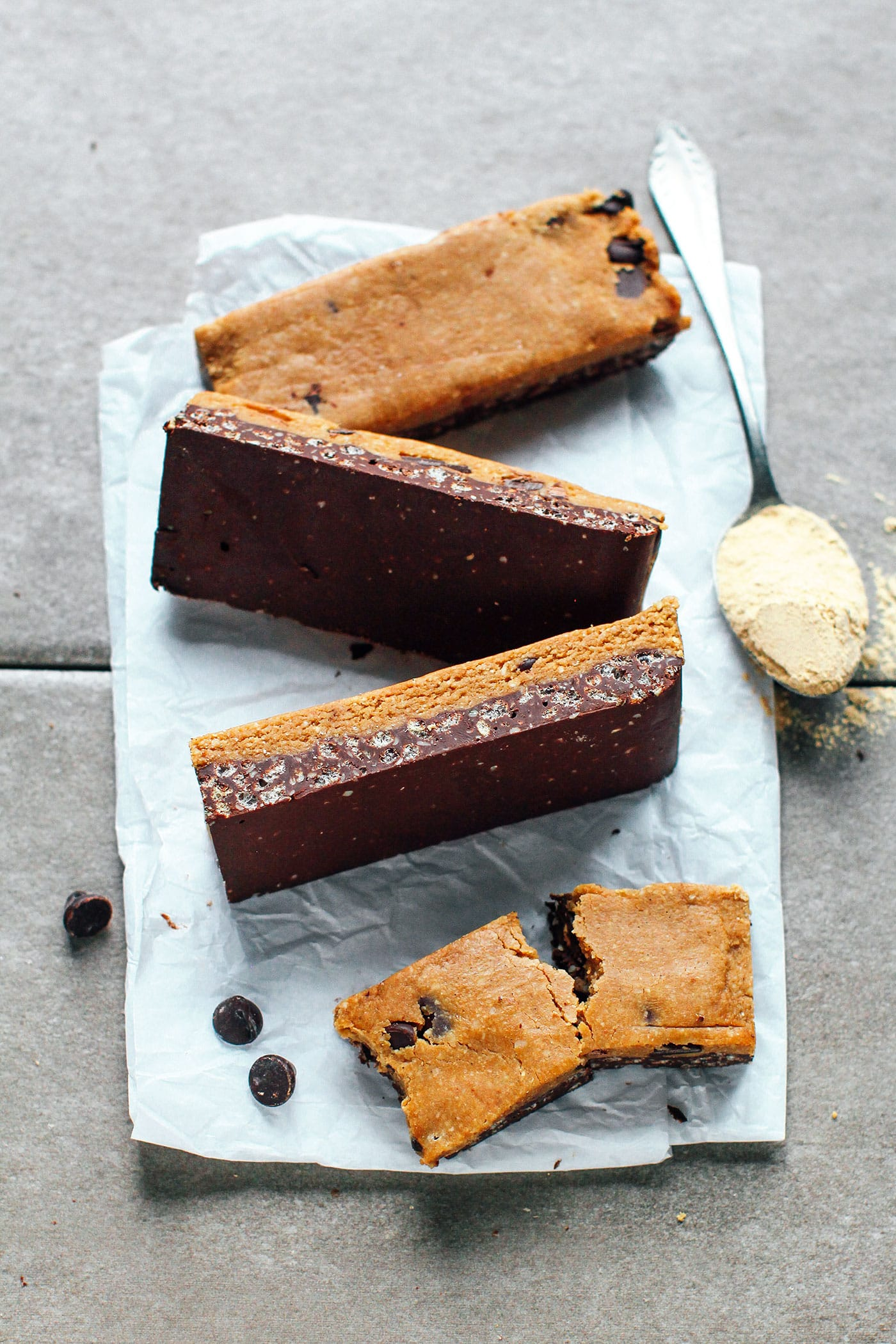 Cookie Dough Chocolate Crunch Protein Bars (Vegan + GF)