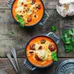 Cozy & Cheesy Vegan Meatball Soup