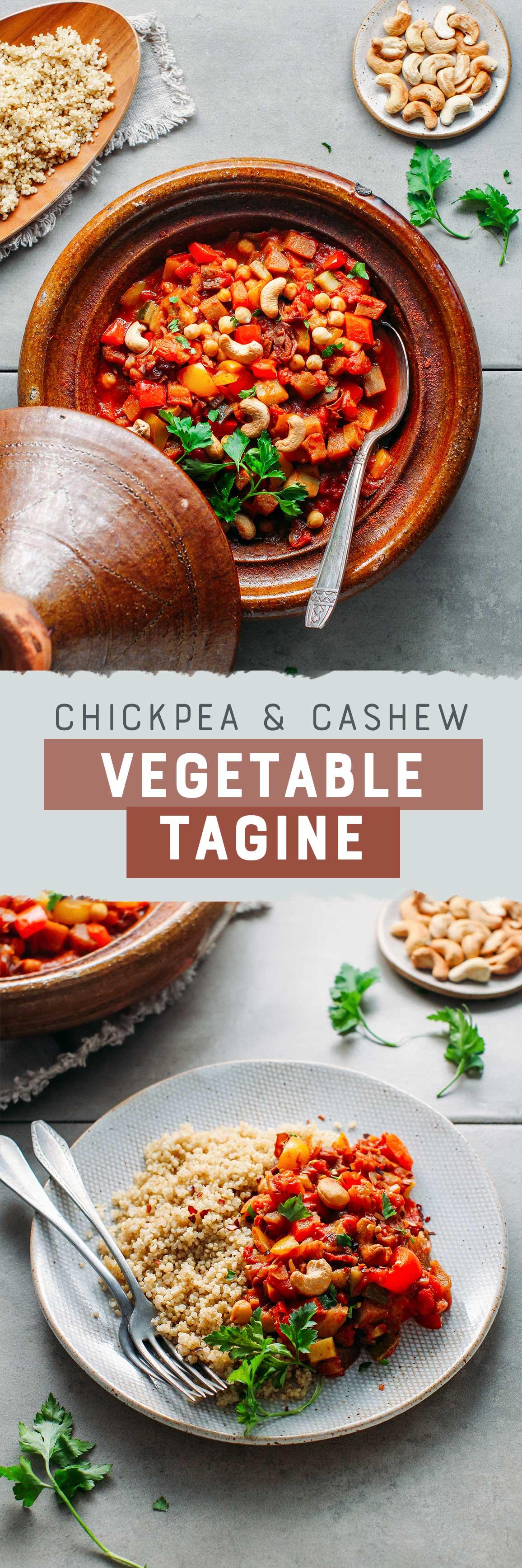 Chickpea & Cashew Vegetable Tagine