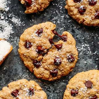 Healthy Oat & Coconut Cookies