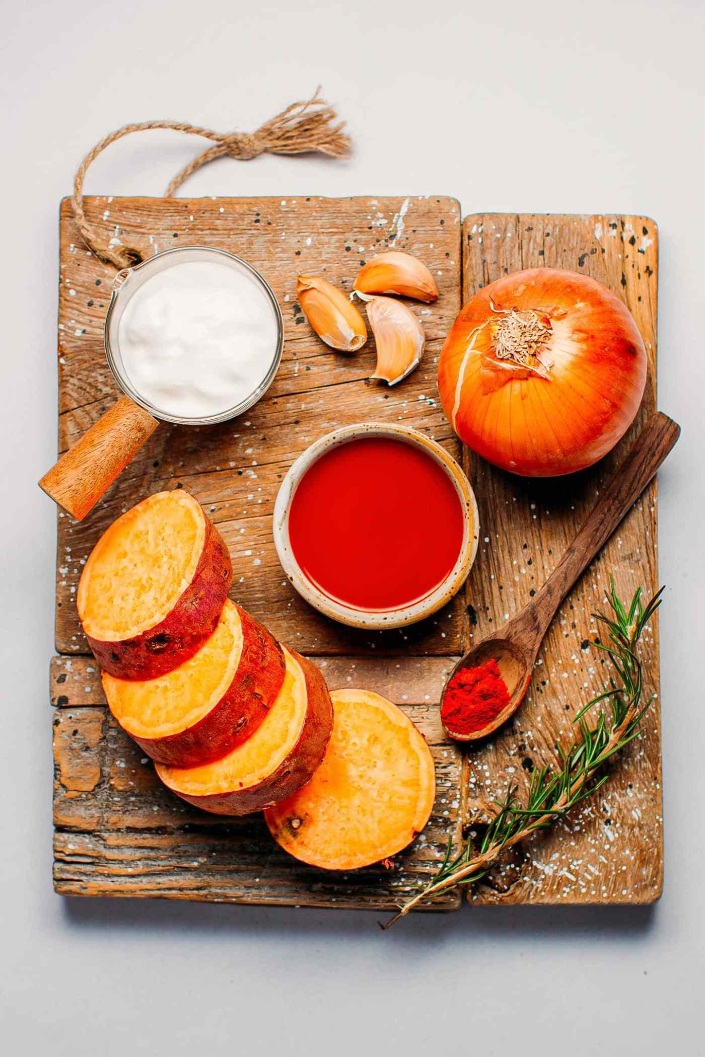 Spicy Buffalo Sweet Potato Soup