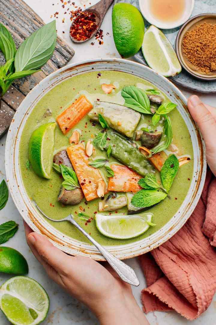 Easy Vegan Thai Green Curry
