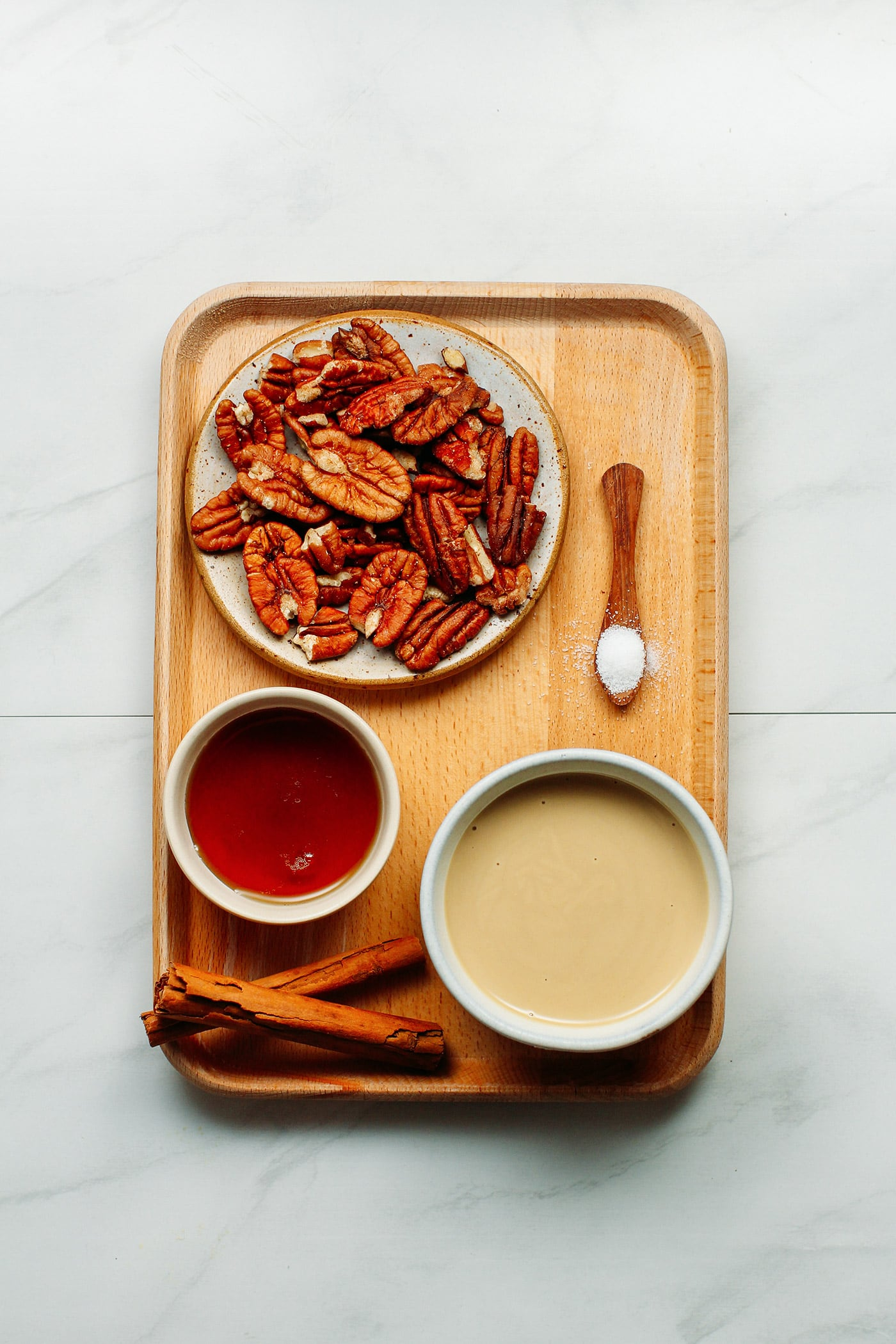 Candied Pecans Salted Tahini Butter