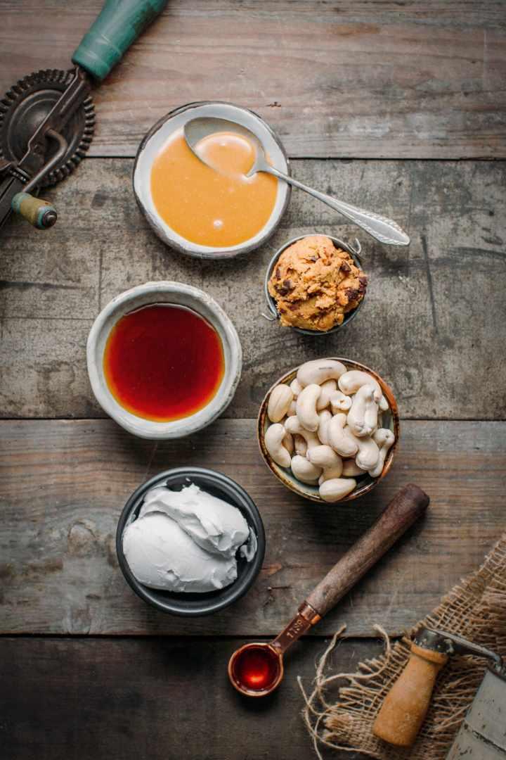 Butterscotch Swirl Pumpkin Cookie Dough Ice Cream