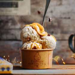 Butterscotch Swirl Pumpkin Cookie Dough Ice Cream