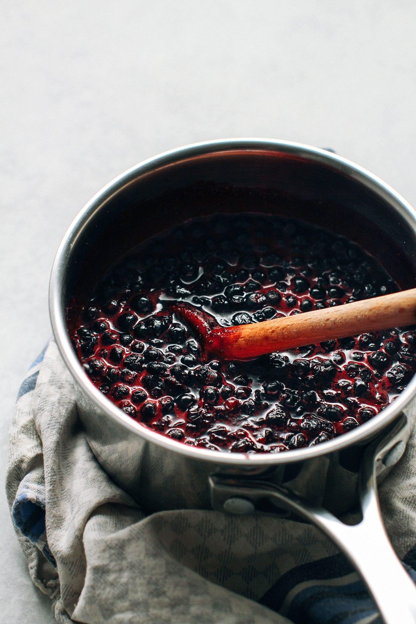Thick Blueberry Tart (Vegan + Gluten-Free + Refined Sugar-free)