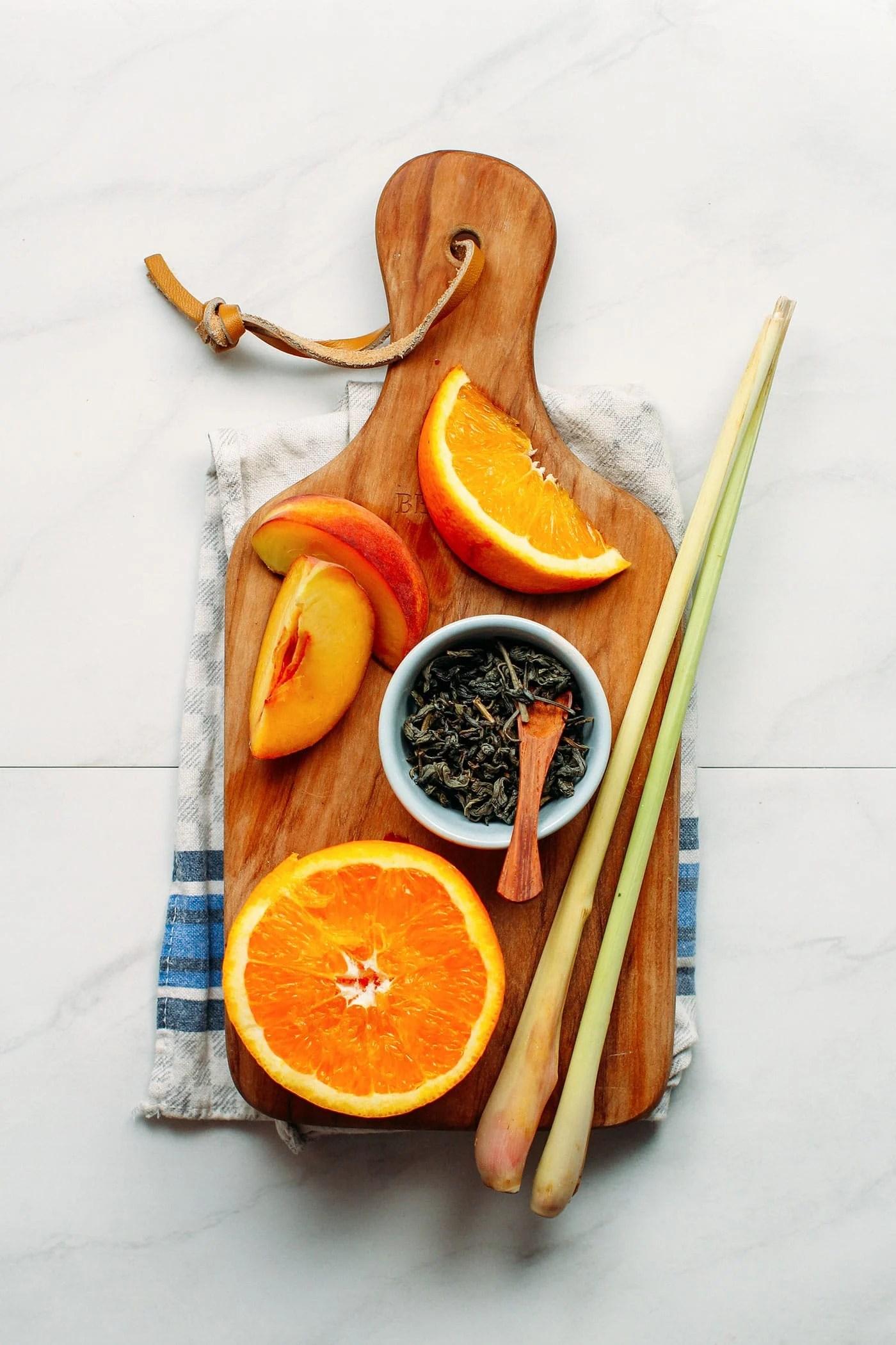 Peach, Orange & Lemongrass Iced Tea