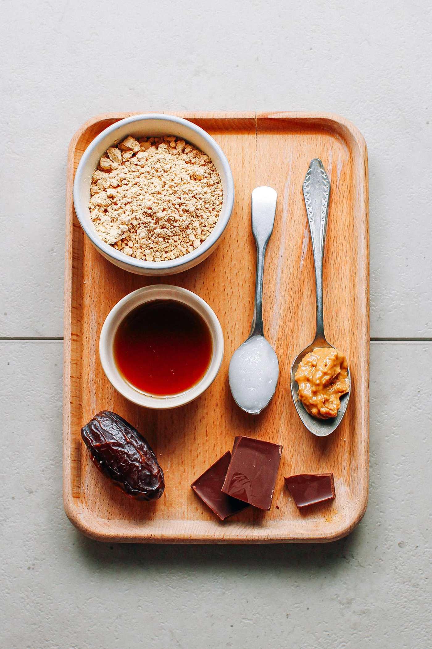Fudgy Peanut Butter Protein Bars (Vegan + GF)