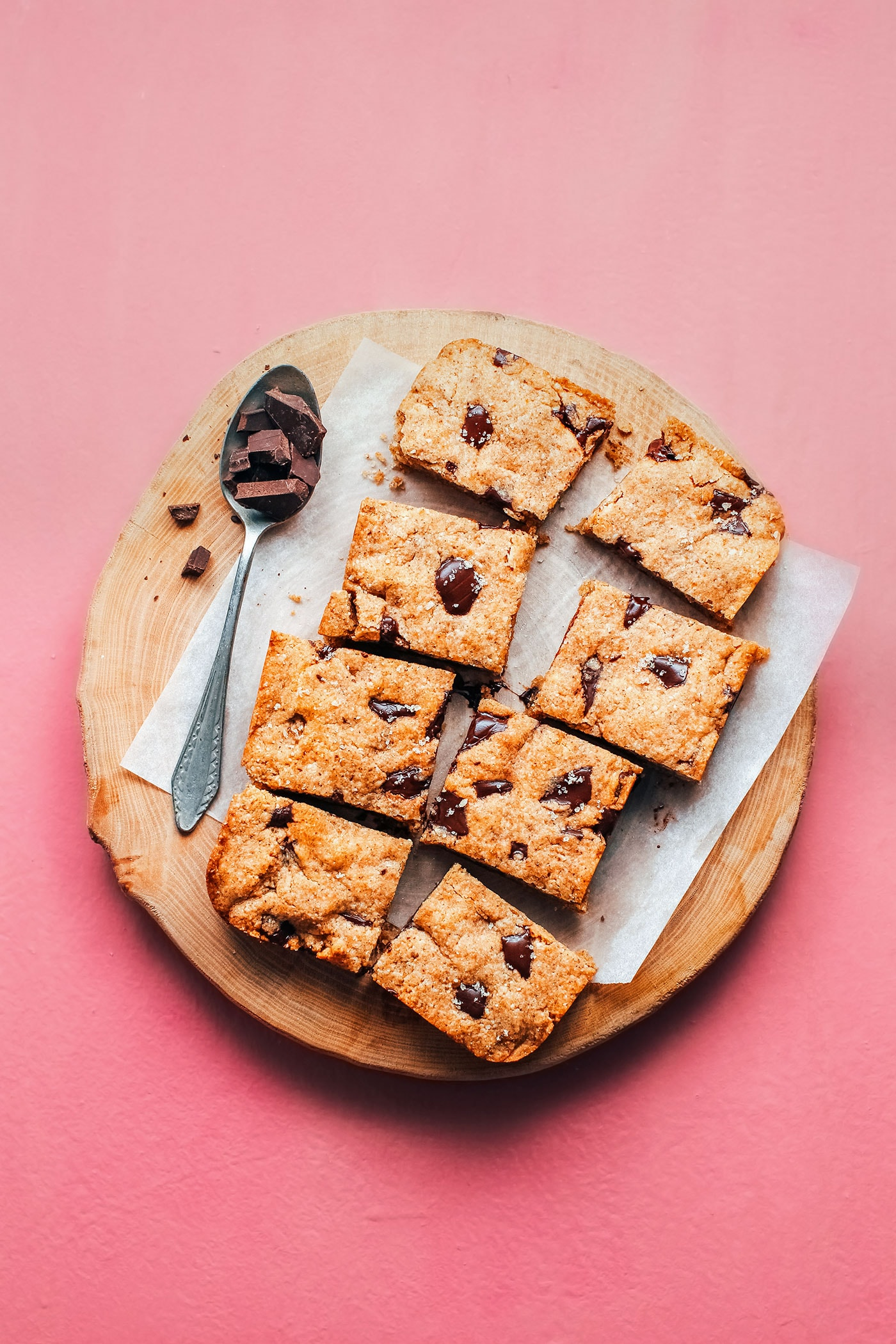 Chocolate Chunk Buckwheat Blondies (Vegan + GF)