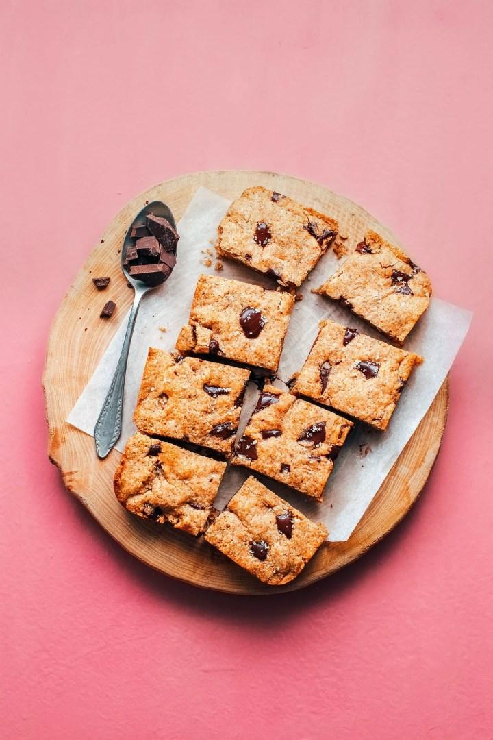 Chocolate Chunk Buckwheat Blondies (Vegan + GF)
