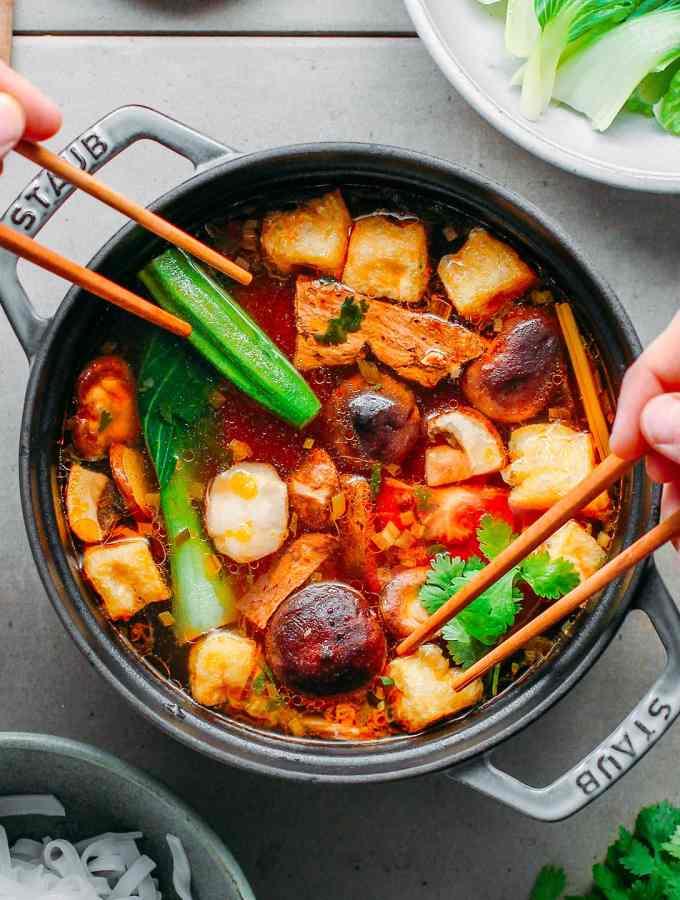 Vegan Thai Hotpot (Sweet & Sour)
