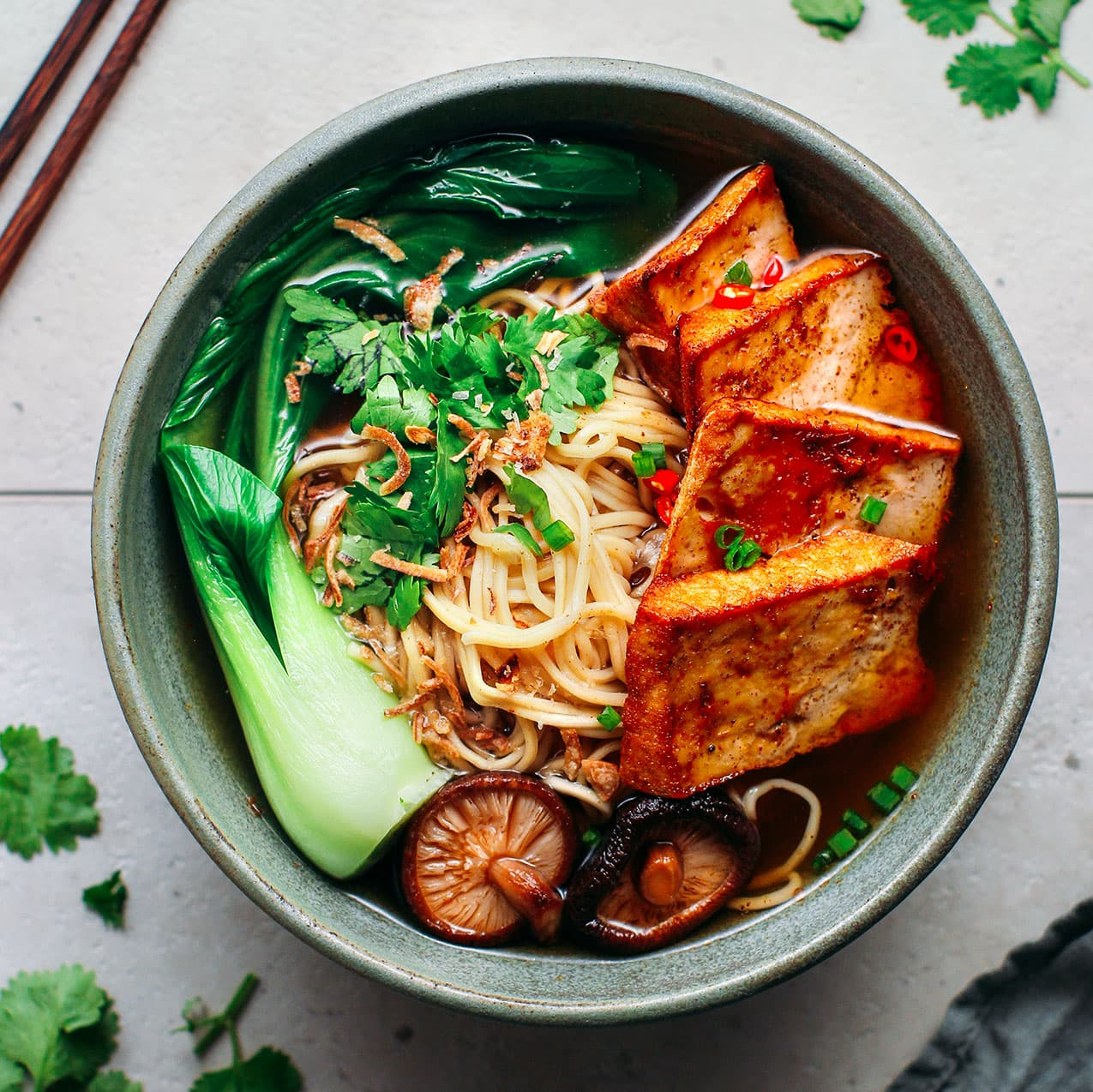 Five Spice Tofu Noodle Soup Full Of Plants