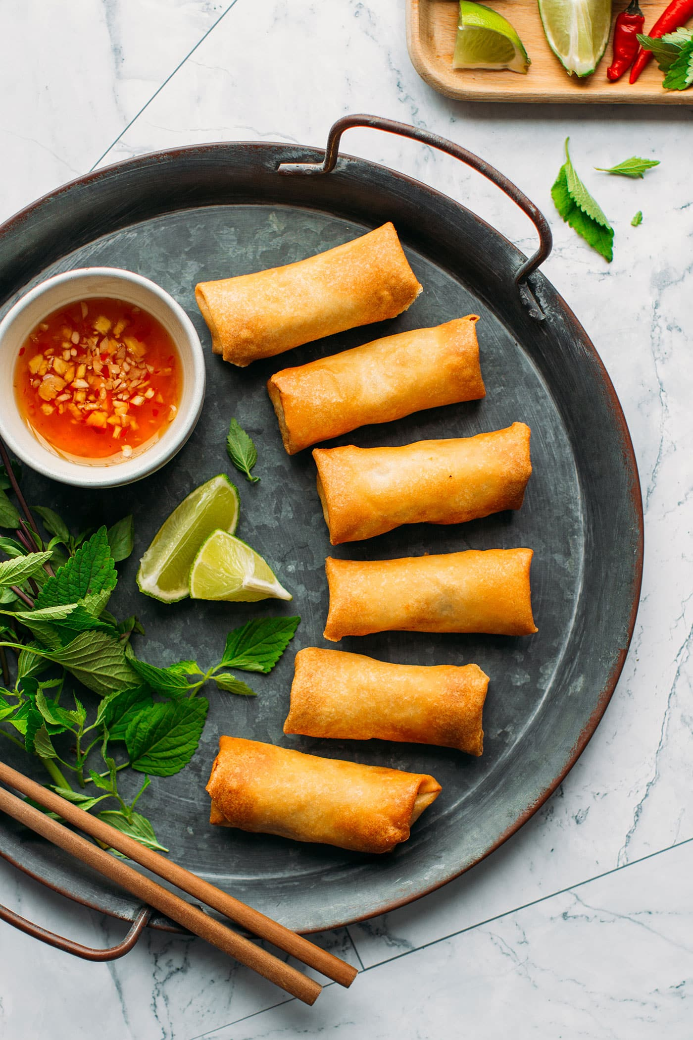 Spicy Vegan Spring Rolls