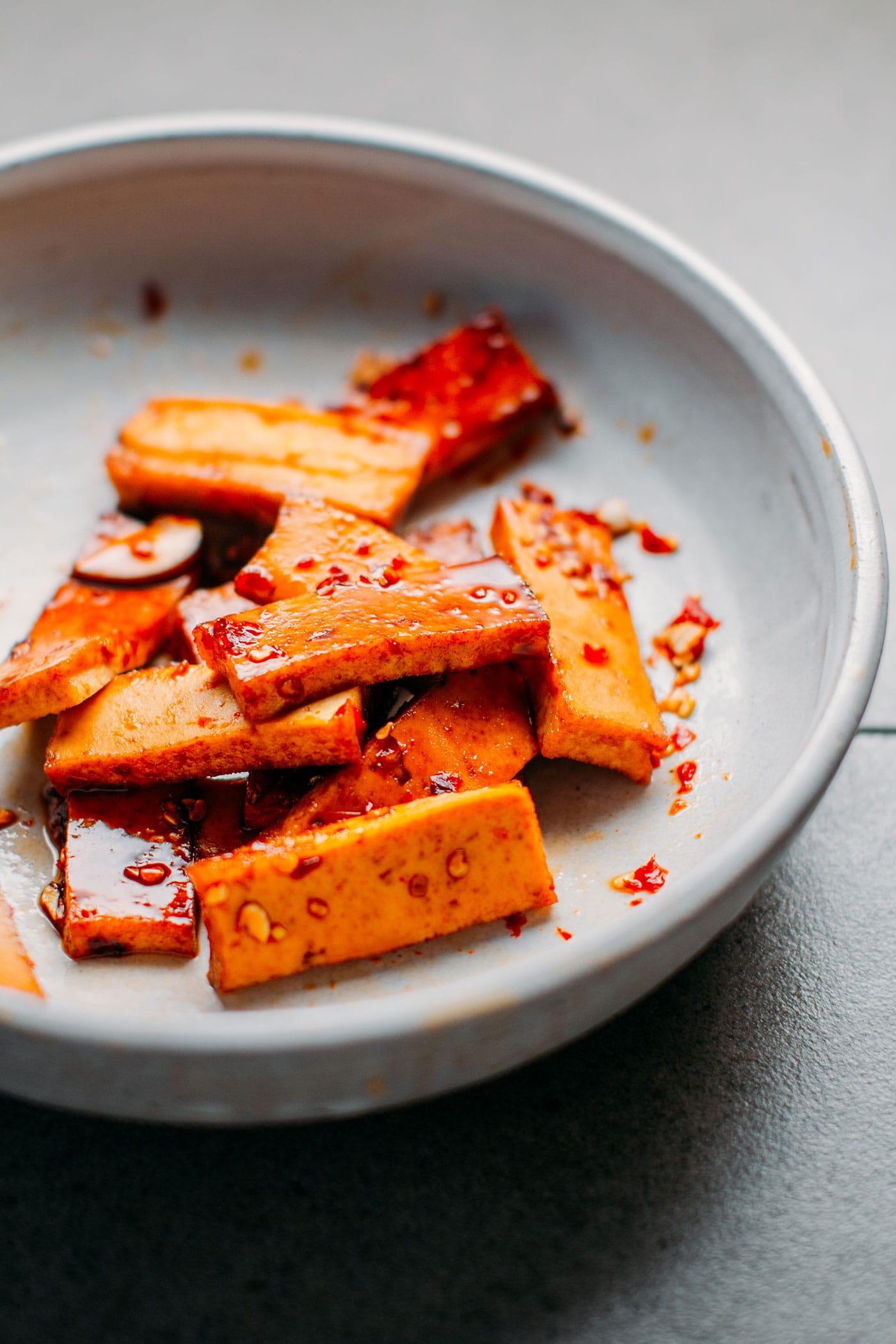 Teriyaki Tofu Sesame Sandwich