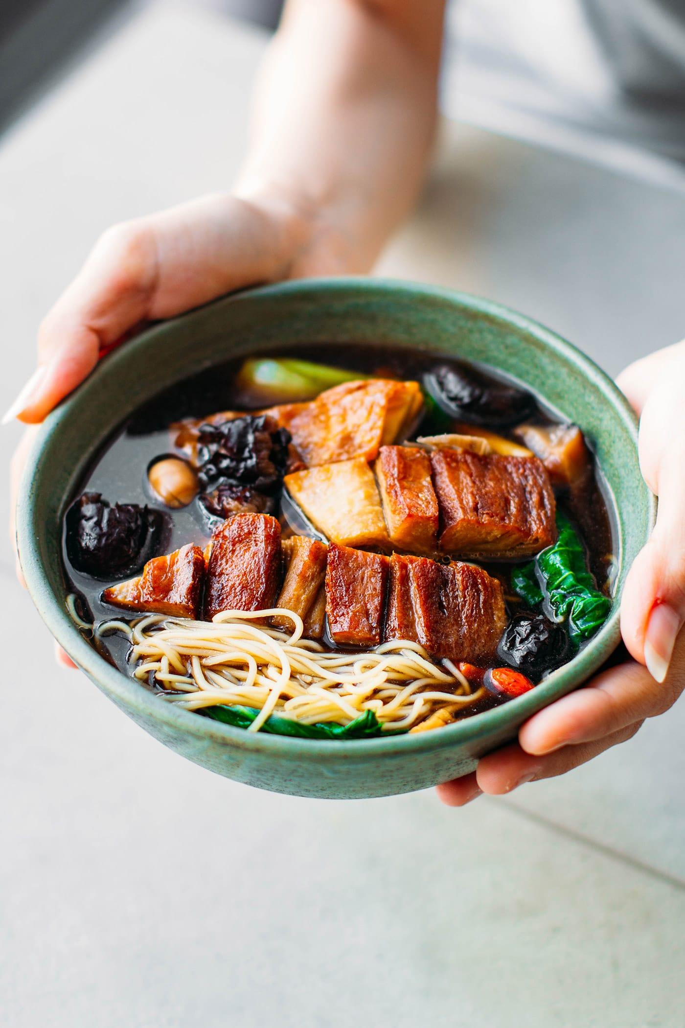 A Guide to Eating Vegan in Viet Nam - Mì Vịt Tiềm