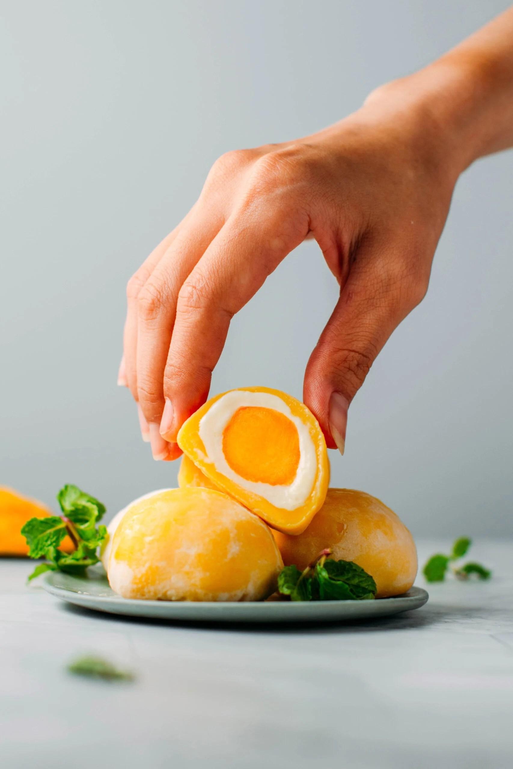 Mango & Passion Fruit Mochi (Vegan + GF)