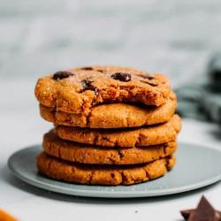 Grain-Free Vegan Protein Chocolate Chip Cookies