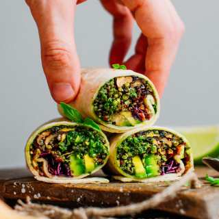 Pesto Quinoa Burritos