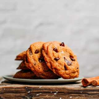 Vanilla Chocolate Chip Cookies (Vegan + GF)
