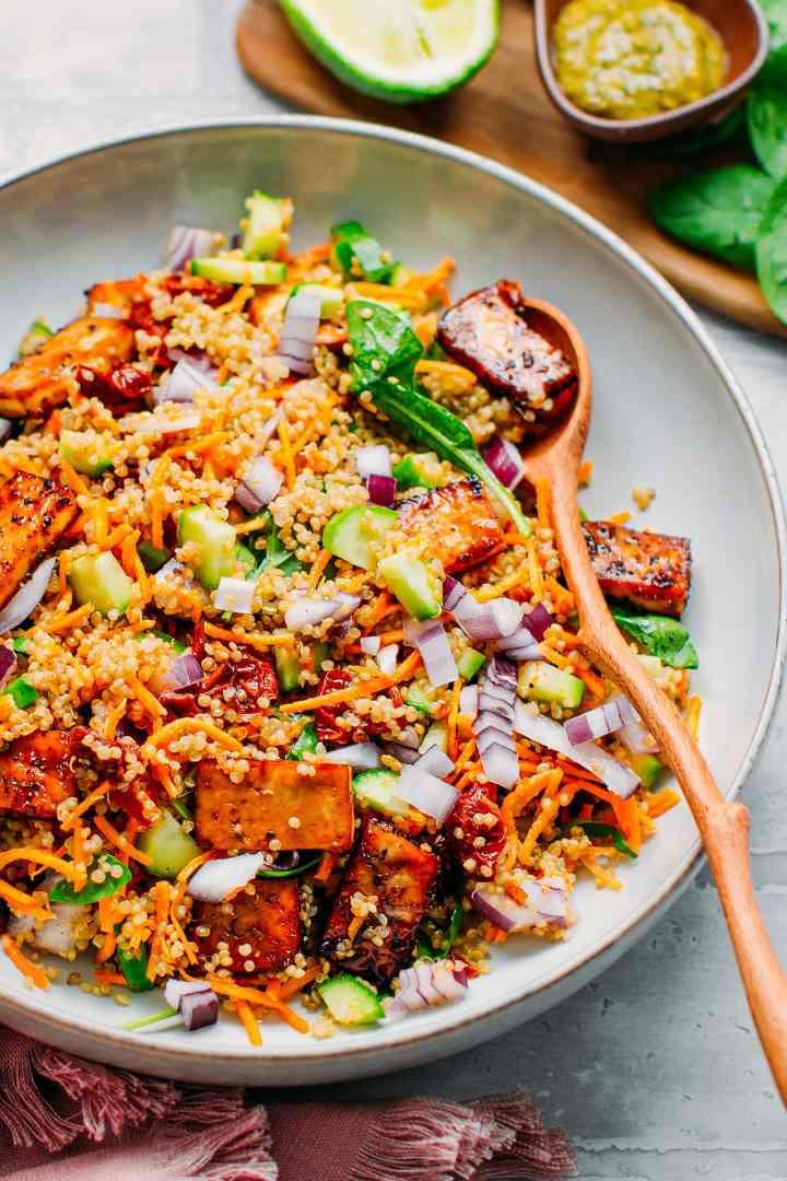 Black Pepper Tofu Quinoa Salad