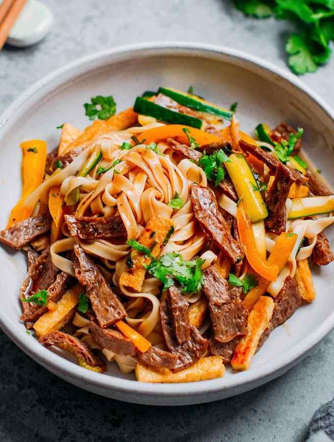 Char Siu Beef Noodles (Vegan)