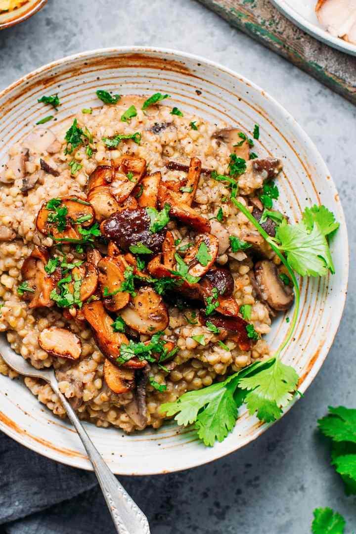 Miso Mushroom Buckwheat Risotto