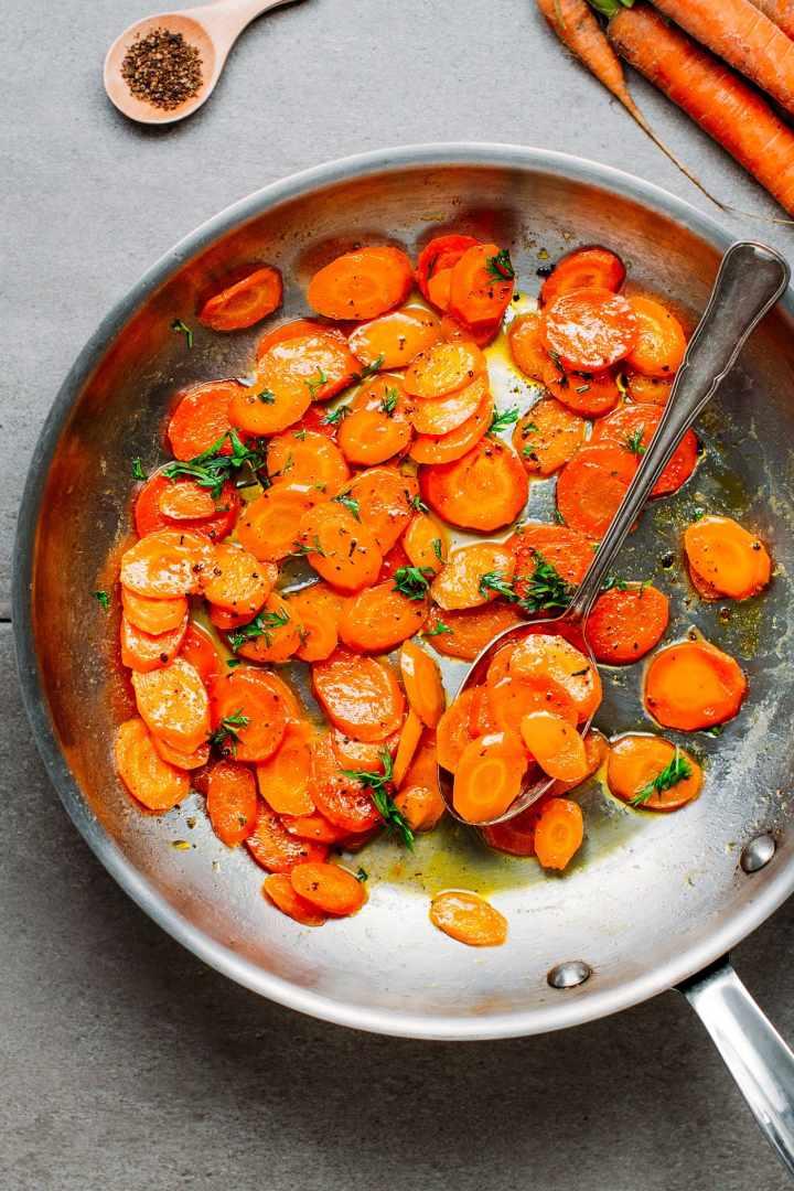 Easy Glazed Carrots (Carrots Vichy)