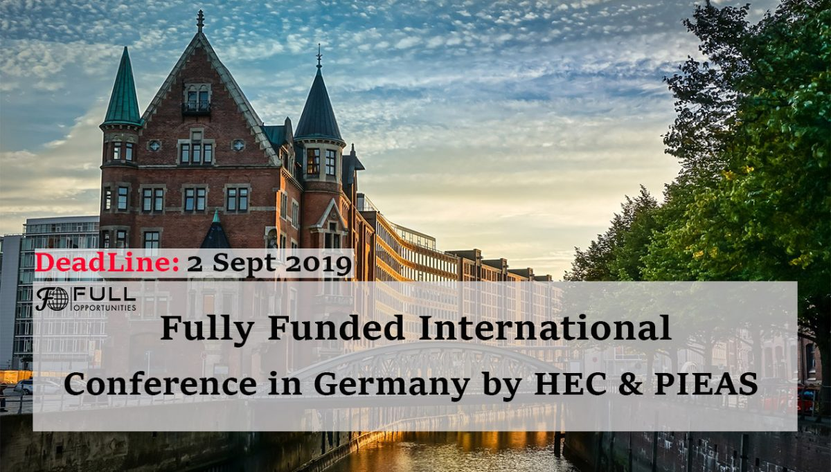 Fully Funded International Conference in Germany by HEC