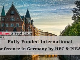 Fully Funded International Conference in Germany by HEC & PIEAS: