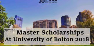 Master Scholarships At University of Bolton