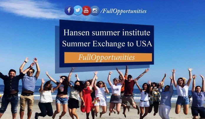 Hansen Summer Exchange Program to USA - 2020